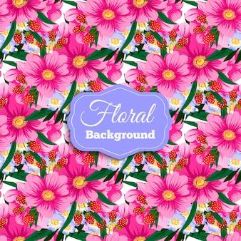 Fondo de flores rosas
