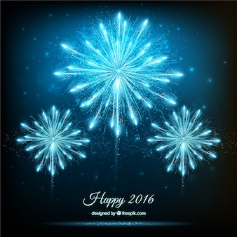 Fondo de fuegos artificiales brillantes de año nuevo