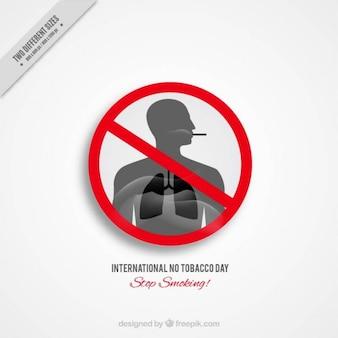 Fondo de fumador con pulmones grises