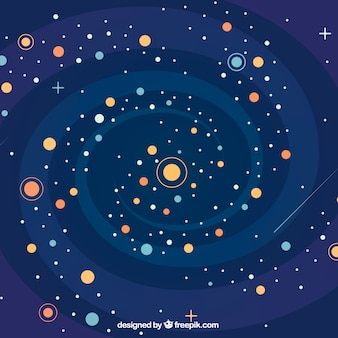 Fondo de galaxia y espiral