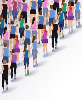 Fondo de gente practicando running