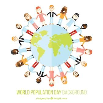 Fondo de gente unida alrededor del mundo