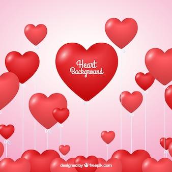 Fondo de globos de corazones