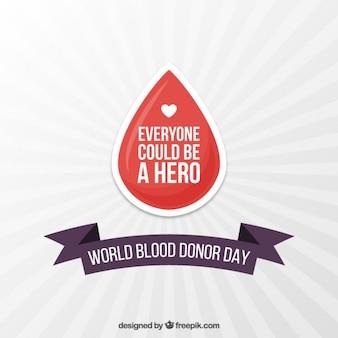 Fondo de gota de sangre