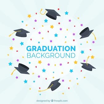 Fondo de graduación con estrellas de colores