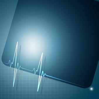 Fondo de gráfico del ritmo del corazón