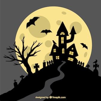 Fondo de halloween con estilo clásico