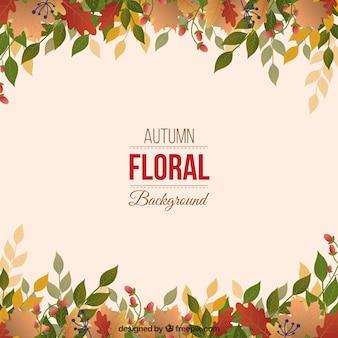 Fondo de hojas en estilo otoñal