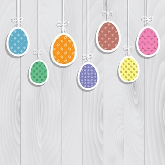 Fondo de huevos de pascua planos