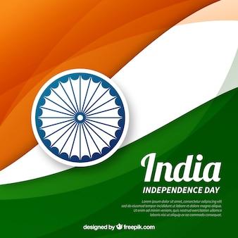 Fondo de independencia de la india con bandera