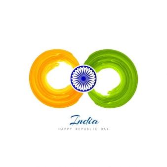 Fondo de India con círculos de acuarela
