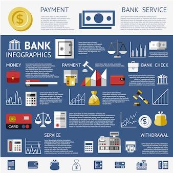 Fondo de infografía de banco