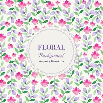 Fondo de la acuarela floral de la primavera