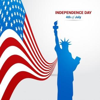 Fondo de la estatua de la liberta del día de la independencia