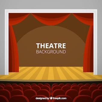 fondo de la etapa del teatro