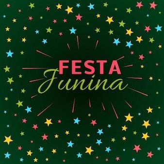 Fondo de la fiesta junina con estrellas