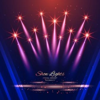 Fondo de las luces de hermoso espectáculo
