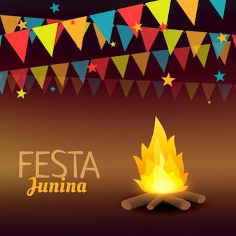 Fondo de las vacaciones brasileñas de la fiesta junina
