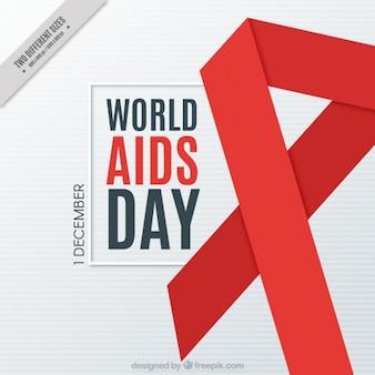Fondo de lazo rojo del día mundial del sida
