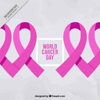 Fondo de lazos rosa del día del cáncer