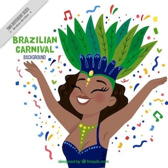 Fondo de linda bailarina brasileña