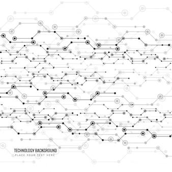 Fondo de líneas abstractas con círculos pequeños