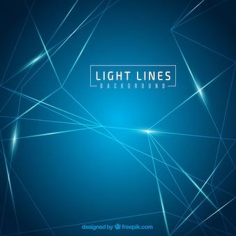 Fondo de líneas de luces azules