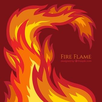 Fondo de llama de fuego plana