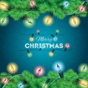 Fondo de luces de navidad de colores