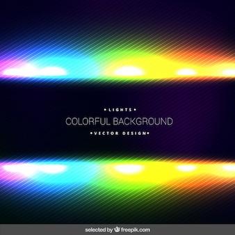 Fondo de luces fluorescentes