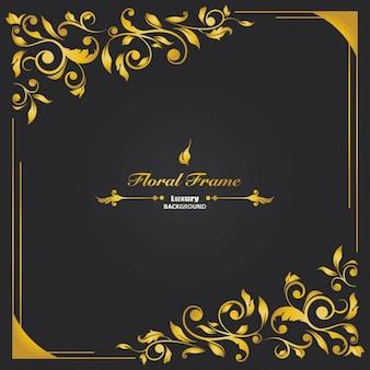 Fondo de lujo con marco floral
