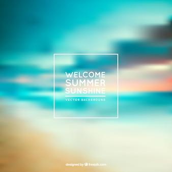 Fondo de luz solar de verano