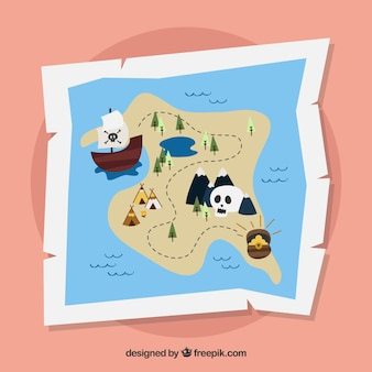Fondo de mapa de tesoro pirata