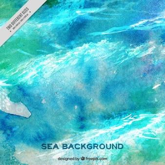 Fondo de mar abstracto de acuarela
