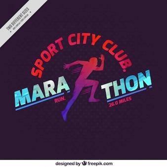 Fondo de maratón club deportivo urbano