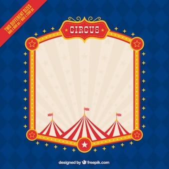 Fondo de marco de circo