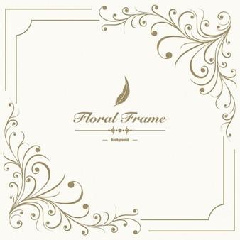 Fondo de marco floral