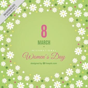 Fondo de margaritas del día de las mujeres