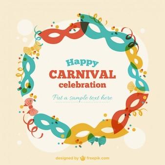 Fondo de máscaras de carnaval de colores