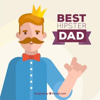 Fondo de mejor padre hipster