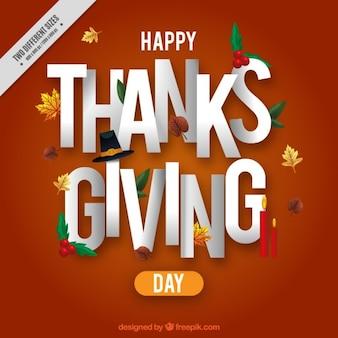 Fondo de mensaje de feliz día de acción de gracias