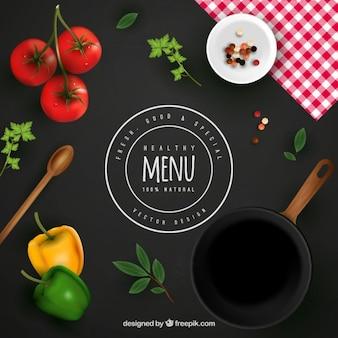 Fondo de menú saludable