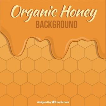 Fondo de miel con hexágonos