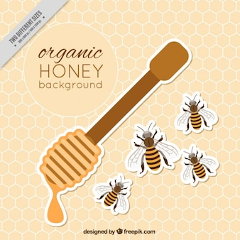 Fondo de miel orgánica