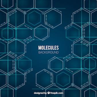 Fondo de moléculas con estilo moderno