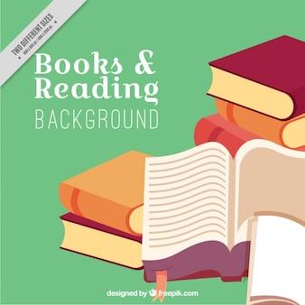 Fondo de montón de libros