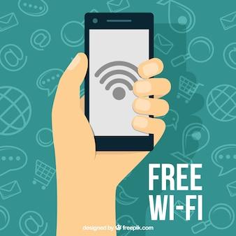 Fondo de móvil con wifi