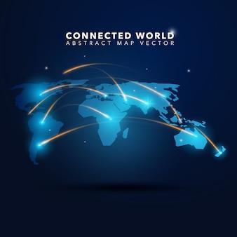 Fondo de mundo conectado