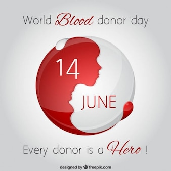 Fondo de mundo del día del donante