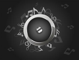 Fondo de música creativa con altavoz de audio.
